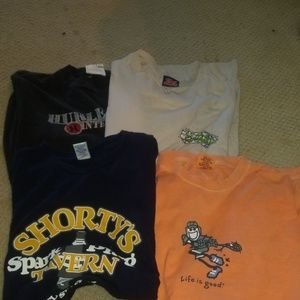 t shirt bundle of 4 vintage style VSCO